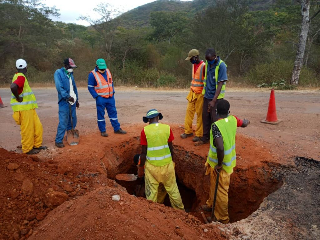 Boterekwa road collapses due to illegal mining activities